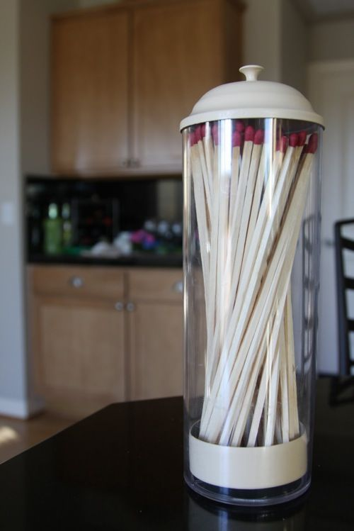Beautiful Long Matches, Cute Idea On Mantel In A Straw Jar .... Maybe