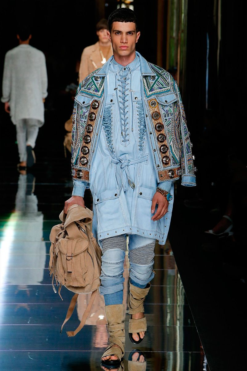Olivier Rousteing unveiled his Spring/Summer 2017 collection for Balmain, during…