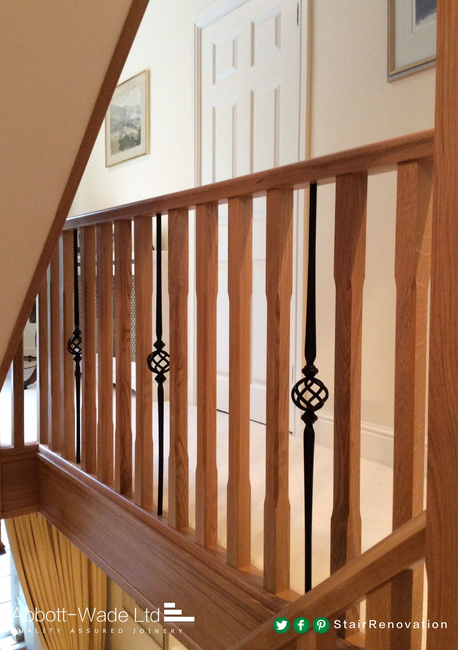 Best Chamfered Oak Spindles With Metal Basket Spindles Makes An 400 x 300