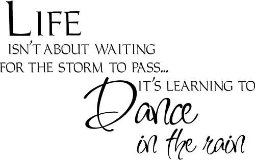 Life Dancing In The Rain Quote Enchanting Life Isn't About Waiting For The Storm To Pass It's About Learning
