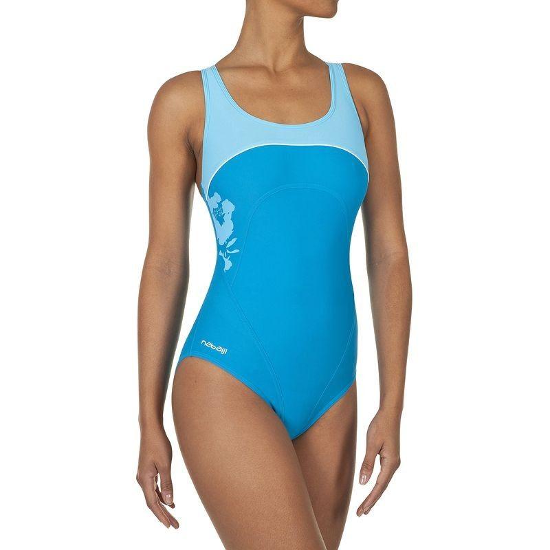 f42ff229fb1 Maillot de bain 1 pièce Mikybee bleu NABAIJI - Maillots femme Natation -  Decathlon