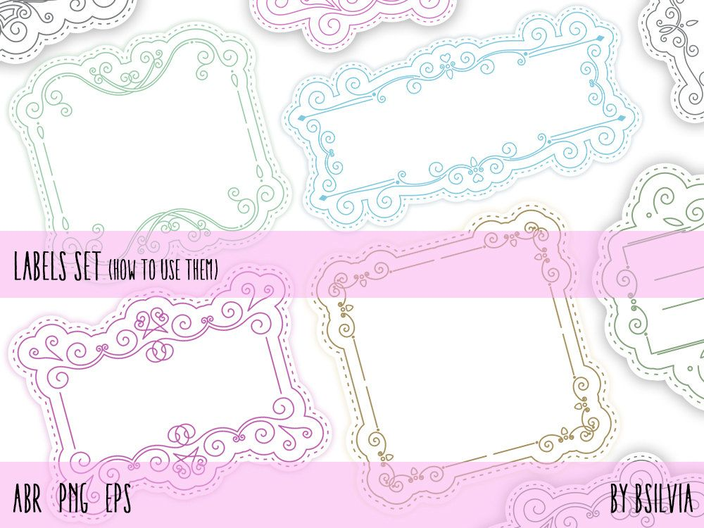 Labels Brushes, Labels Clip Art, Transparent PNG