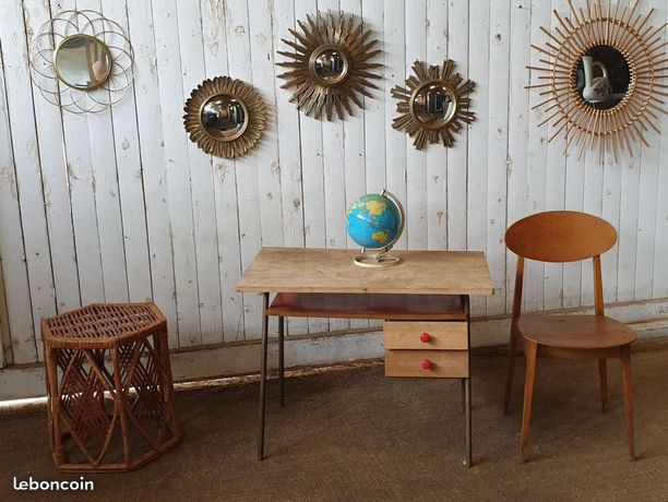 Bureau Enfant Vintage Meuble Vintage Mobilier De Salon Idees De Decor