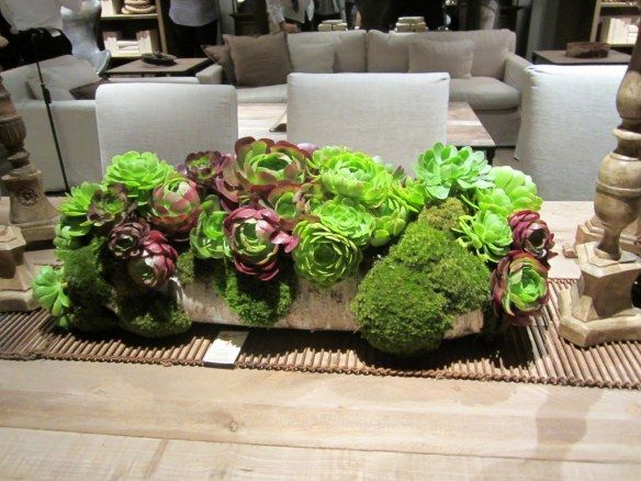 Restoration hardware dining room table centerpiece for Everyday table centerpiece ideas