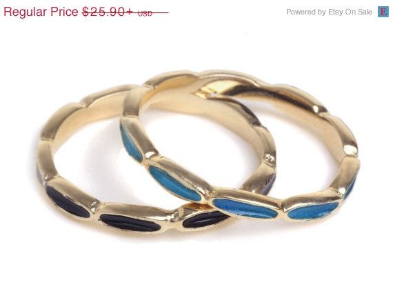 PRESIDENTS DAY SALE 15%- Delicate Stacking knuckle ovals ring inlaid with colorful enamel, Delicate Stackable knuckle Ovals ring with colorf
