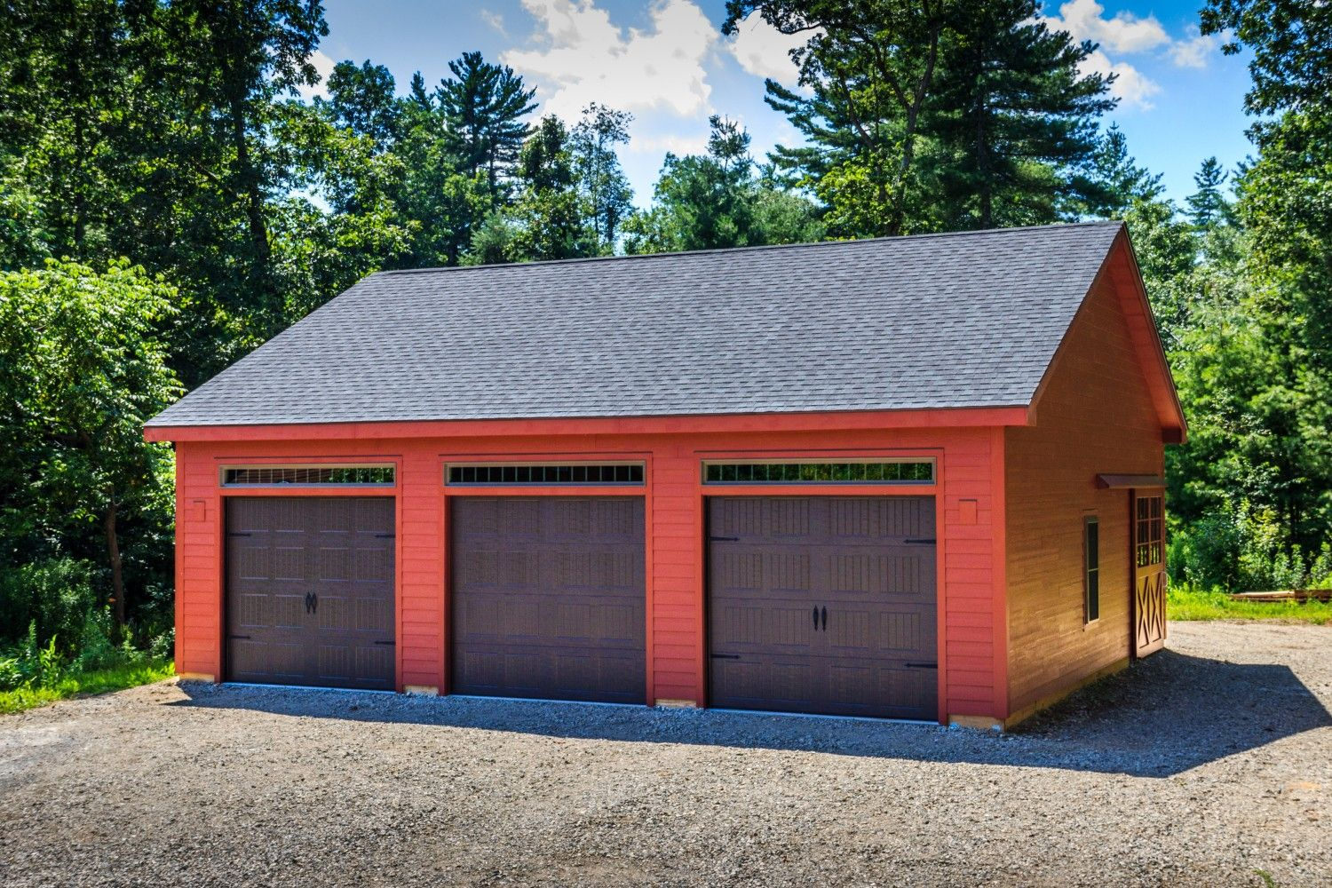 Roosevelt A Frame Style One Story Garage The Barn Yard Great Country Garages Garage Style Single Garage Door Garages