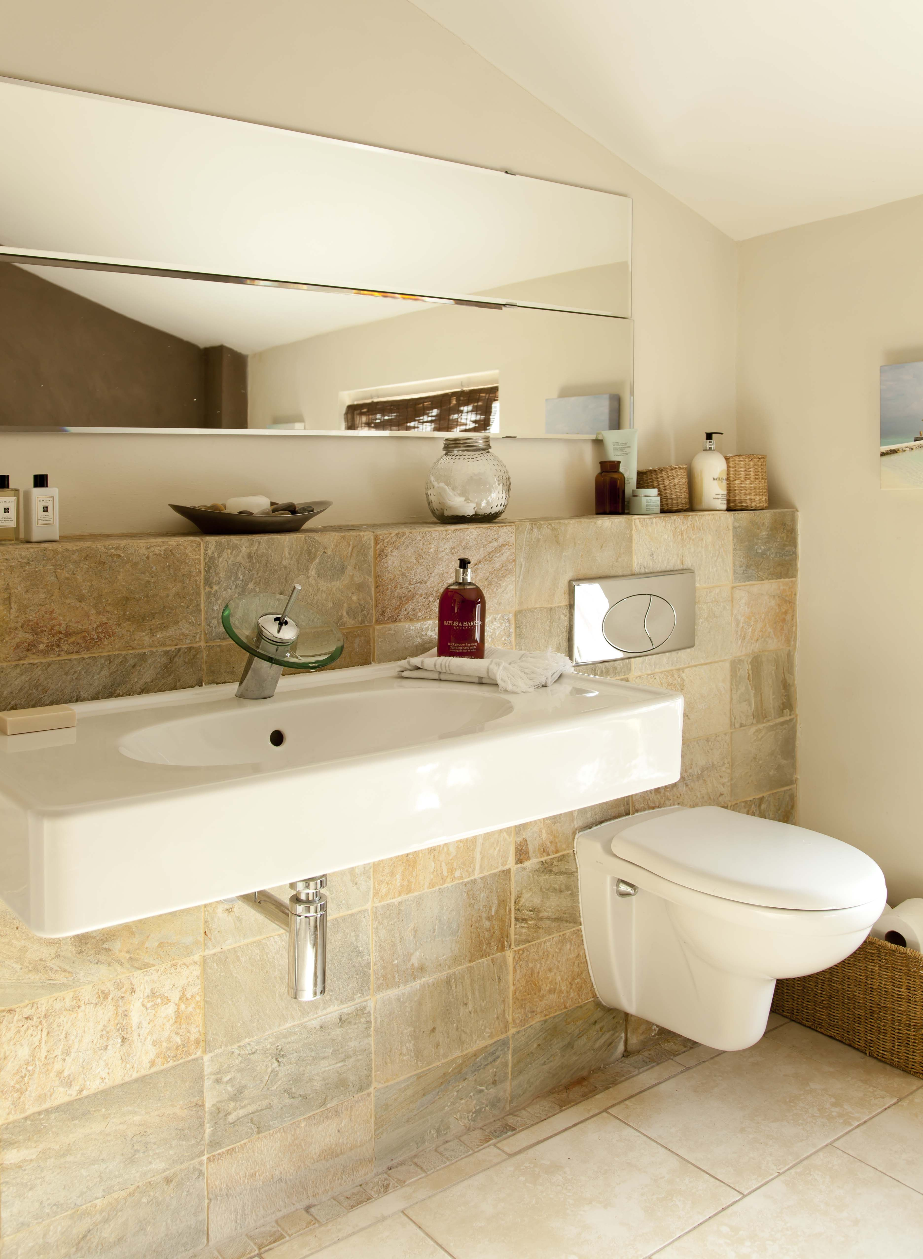 False Wall Shelf And Wall Hung Sink And Loo With Mirror