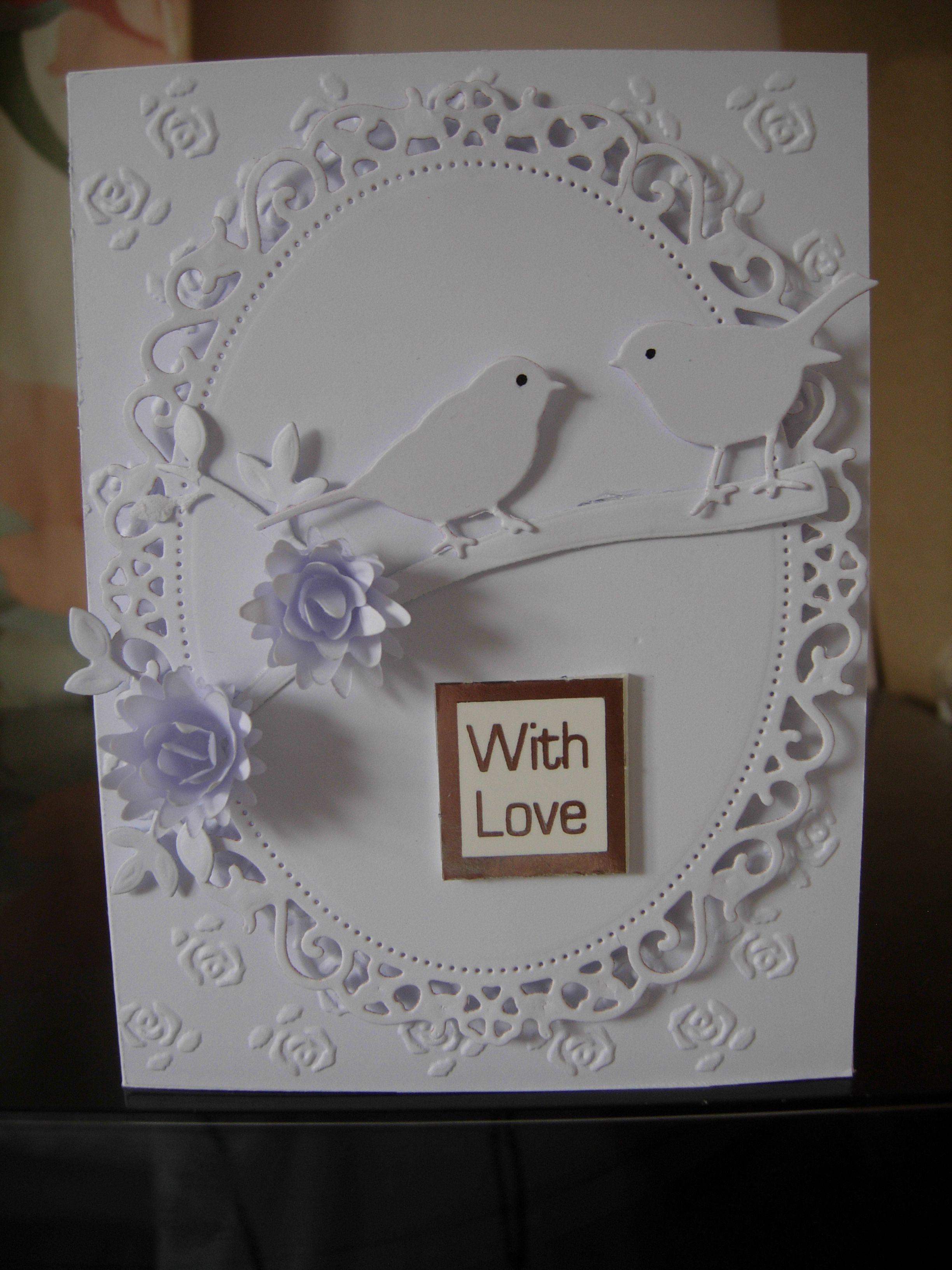 nestabilites  Anniversary card made with Nestabilites and Marianne dies. | Kort ...