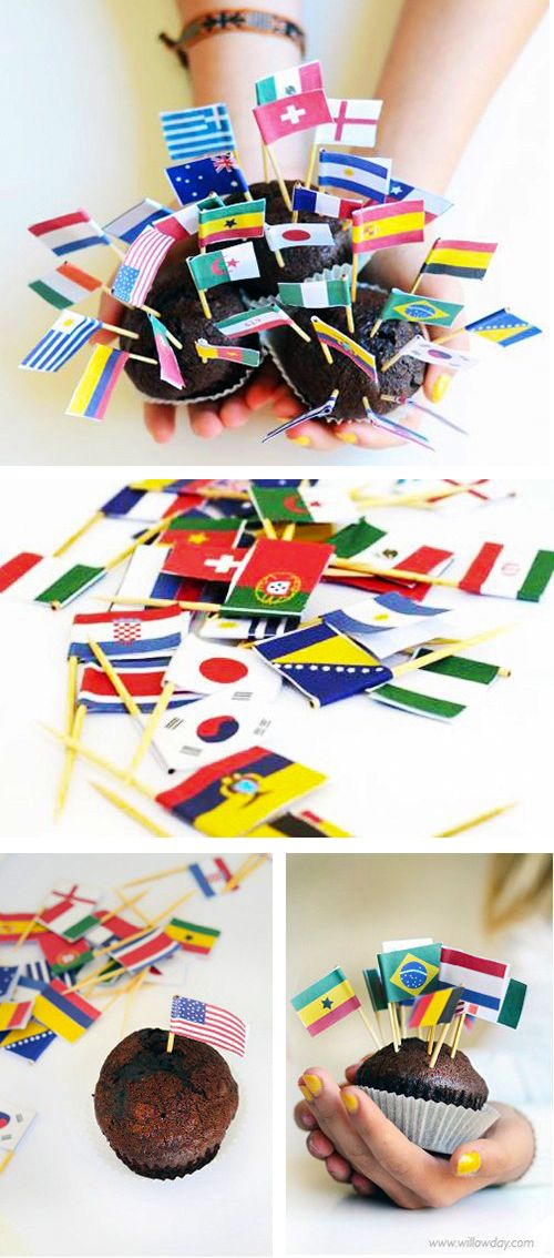 Olympic Party Printables Printable Mini Flags of the World