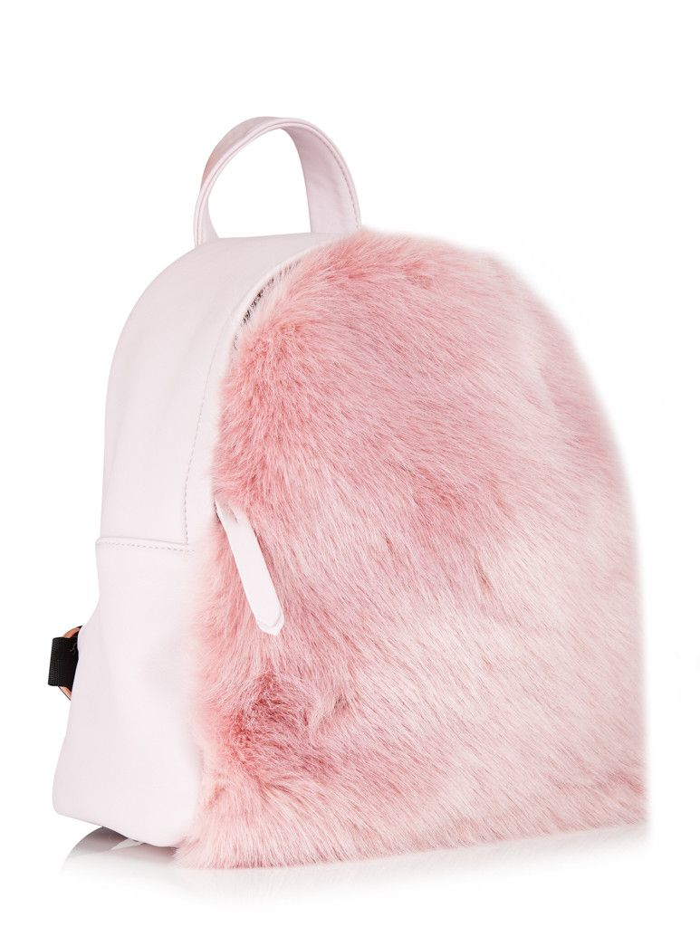 Charlie Pink Fur Mini Backpack | Kid, Bags and So