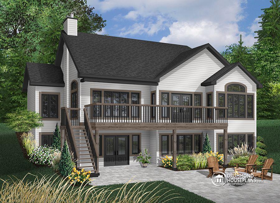 House plan W6916 detail from DrummondHousePlans Future Dream - plan de maison avec patio