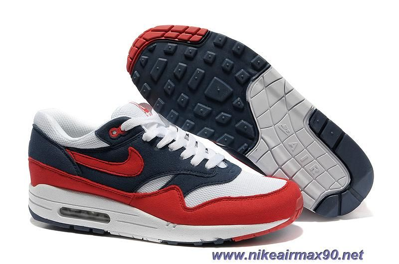 Nike Air Max 1 Midnight Navy Red White Neptune Blue 308866