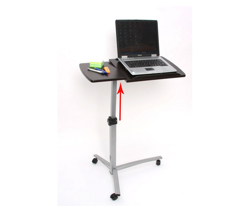 Hohenverstellbarer Notebooktisch Zum Arbeiten Im Sitzen Oder Stehen