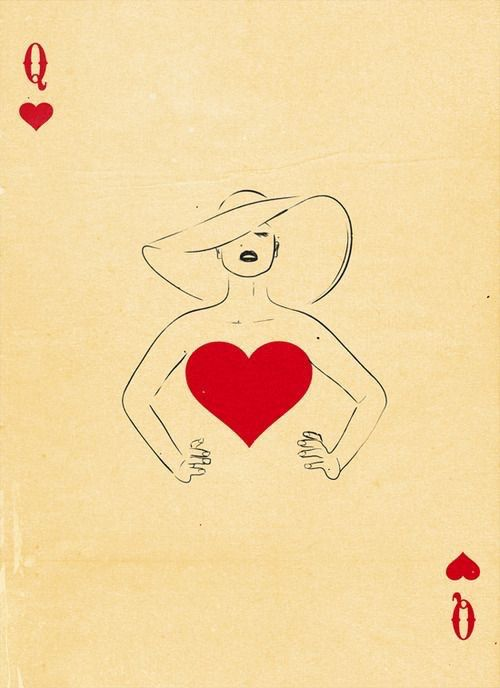 Reine De Coeur Art Jeu De Cartes Art Carte Carte A Jouer