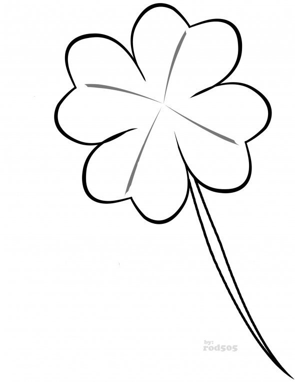 cloverdrawings | Lucky Four-Leaf Clover Free Clip-art Coloring ...