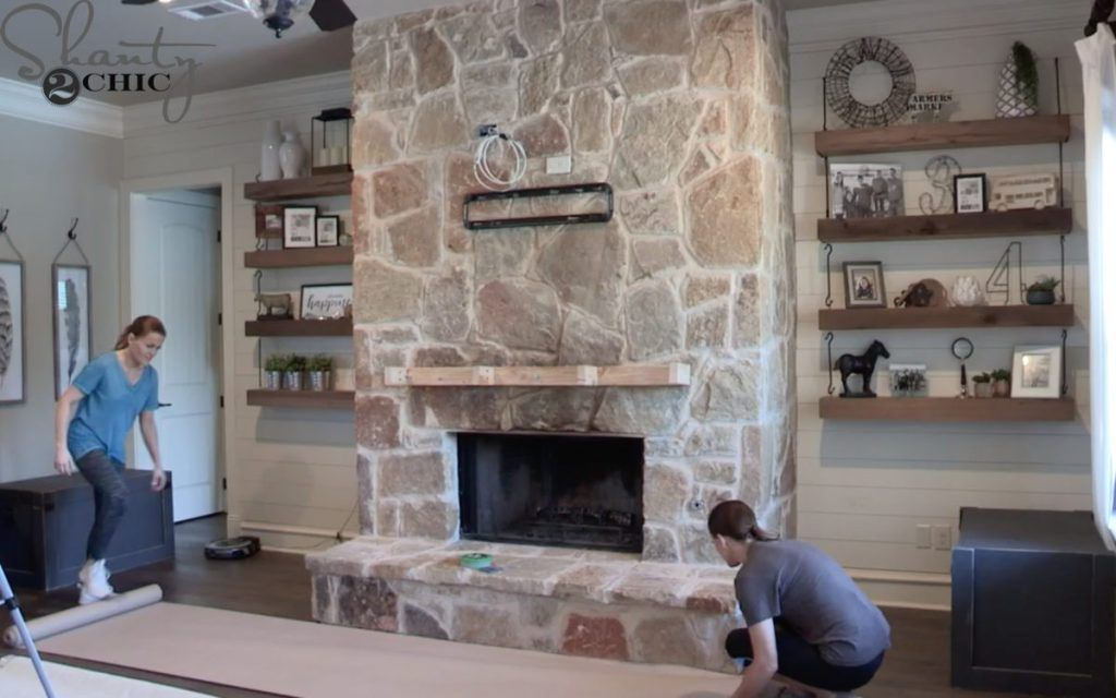 How To German Schmear A Fireplace For 65 Stone Fireplace