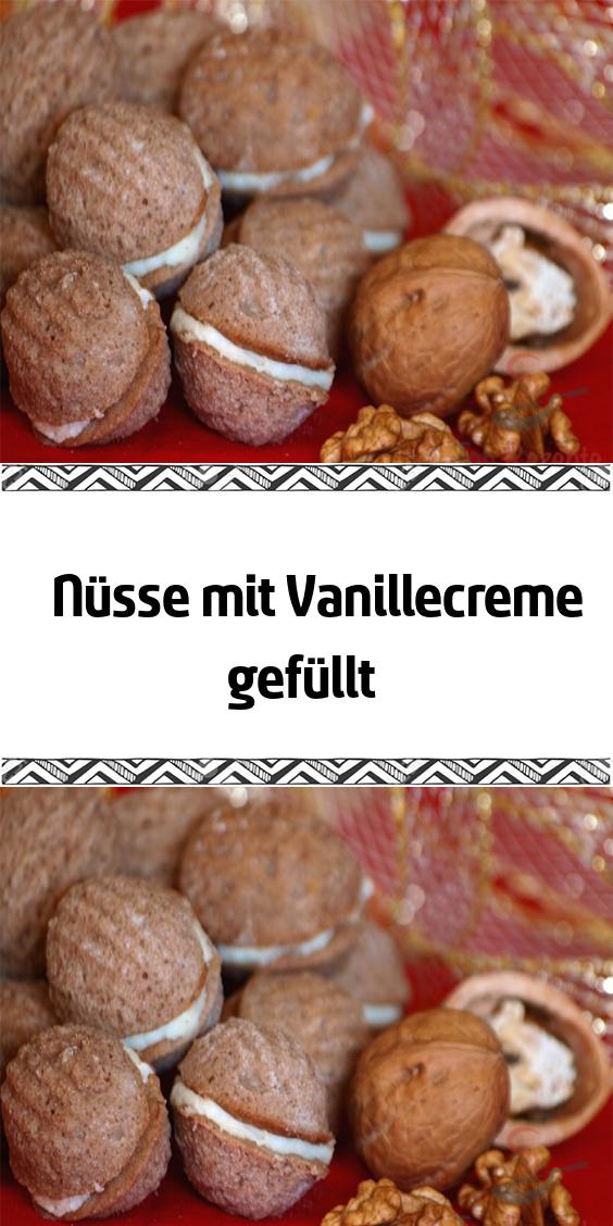Nüsse mit Vanillecreme gefüllt #fallpartyfood