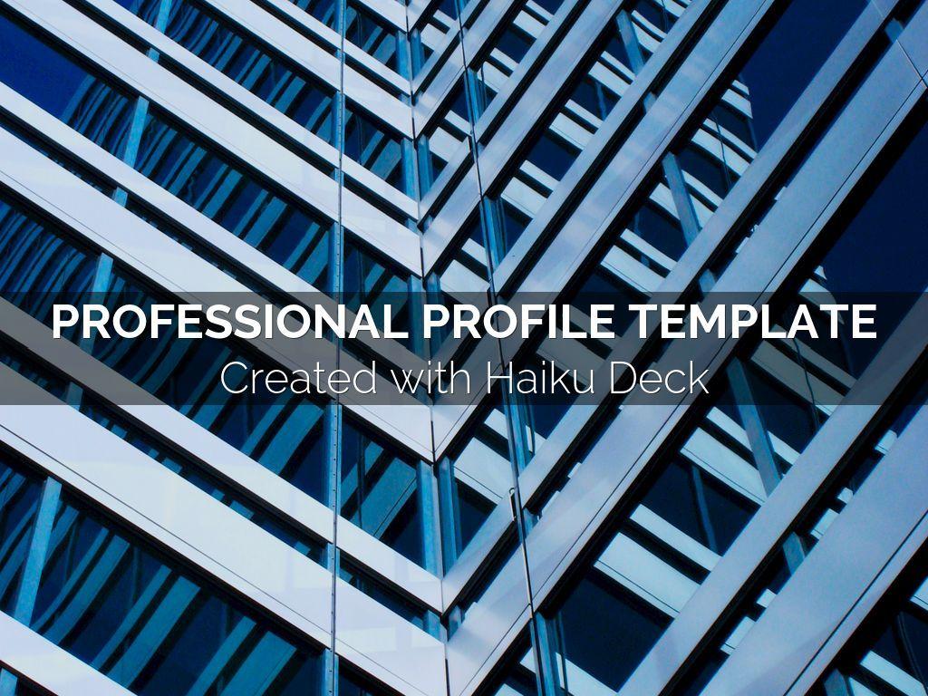 Simple, beautiful, flexible professional profile template