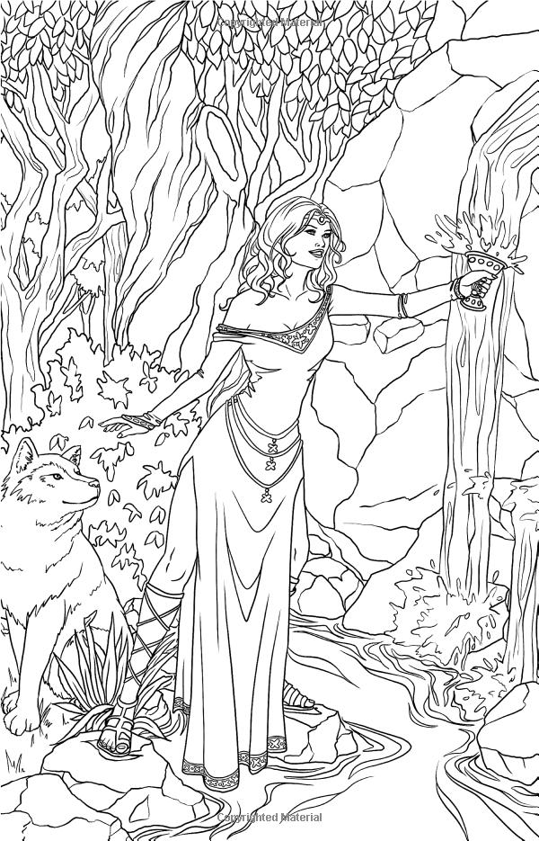 Amazon.com Magic Minis Pocket Sized Fairy Fantasy Art Coloring ...
