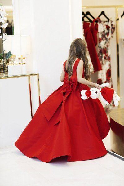 ثوب أحمر عاري الظهر مع فيونكة ضخمة Dresses Formal Dresses Fashion