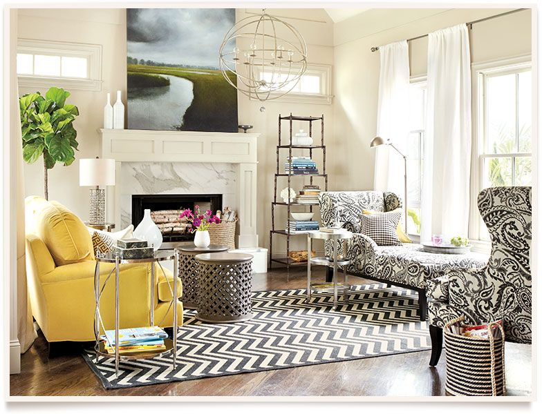 Love This Room! Black And Yellow Are Classic And Timeless. Simple Living  Room | Part 62