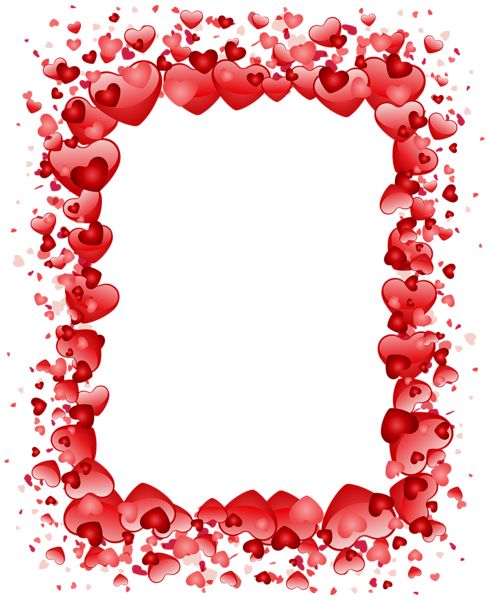 Valentine's Day Hearts Border Transparent PNG Clip Art