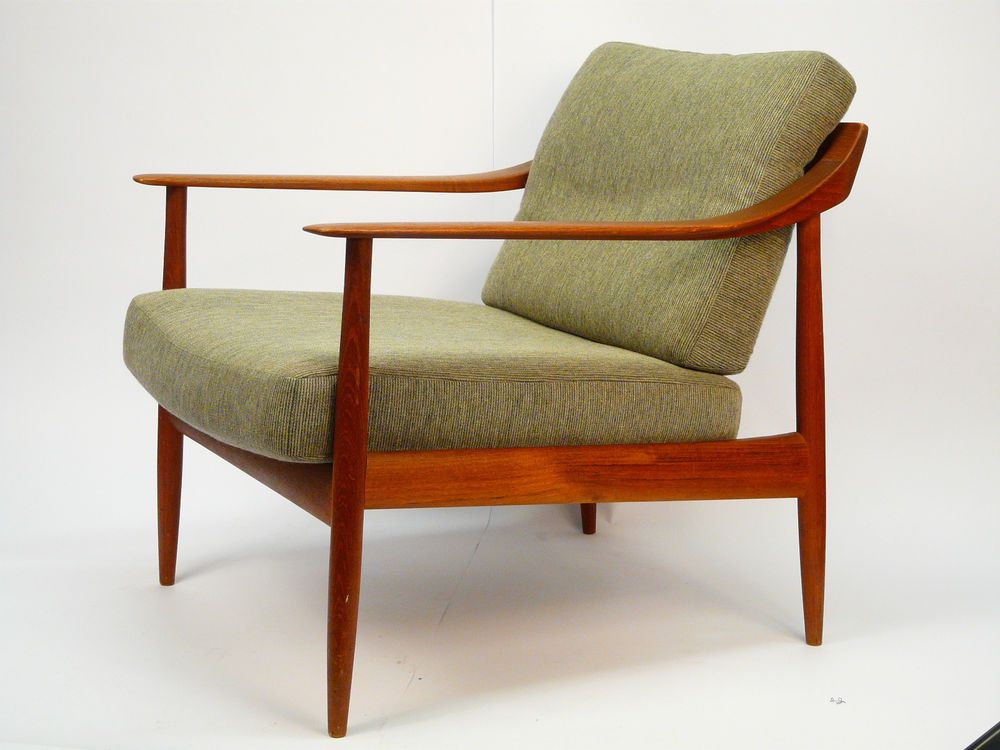 teak sessel mid century scandinavian danish easy chair