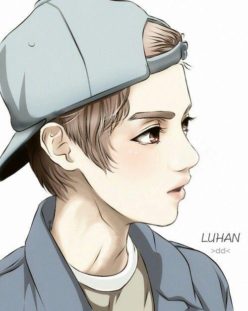 ChiBi Photo EXO Luhan Exo Anime Art Series Chibi Kpop Drawings