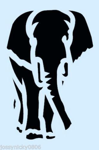 Elephant Stencil Elephants Stencils Animal Safari Craft Template New 8 X 4 1 2
