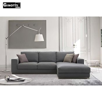 Gls1016 B B Italian L Shape Sofa View L Shape Sofa Ginotti Product Details From Dongguan Ginotti Furniture L Shaped Sofa Living Room Sofa Grey L Shaped Sofas