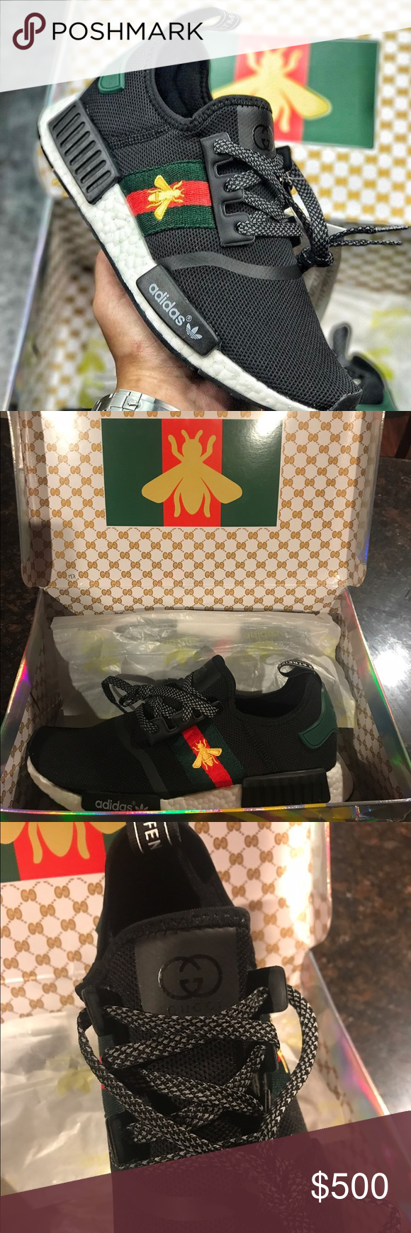the best attitude 59785 44f3a Rare !! GUCCI X NMD ADIDAS COLLABORATION Brand-new with tags ...