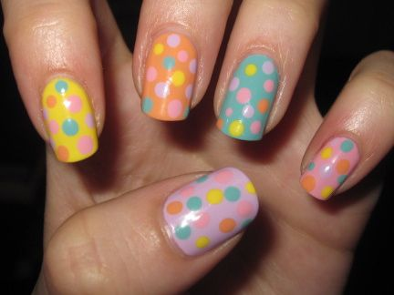 Easter-themed nails
