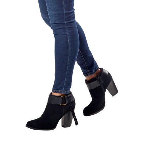 Kensie Ladies' Suede Ankle Bootie-Black bought in black too Lov'em