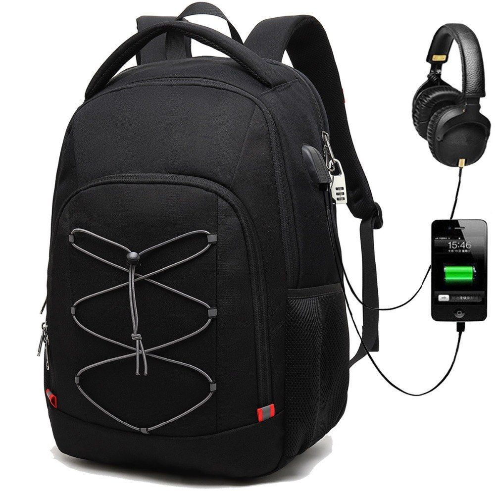 Travel Laptop Backpack for Men and Women USB Charging Port Fit 17 Inch Laptop