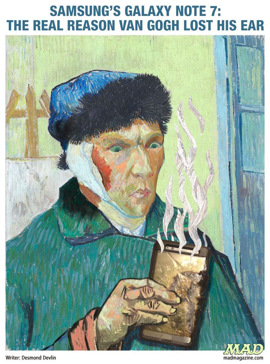 Samsung S Galaxy Note 7 The Real Reason Van Gogh Lost His Ear