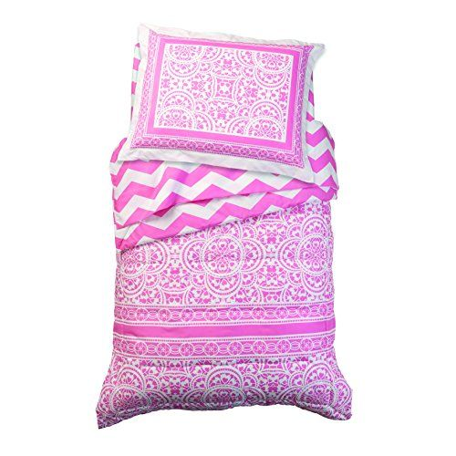 Liven Up Your Little Girls Room Decor With This KidKraft Lace And Chevron Toddler Bedding Set