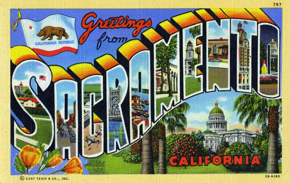 Greetings from sacramento california large letter postcard greetings from sacramento california large letter postcard m4hsunfo Gallery