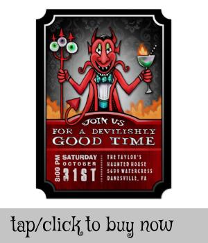 Halloween Party Devilish Good Time Fun Invitation |  Halloween Party Devilish Good Time Fun Invitation