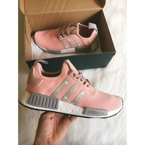 0a274370df530 Over Half Off New Arrival 2017 June Swarovski Adidas Nmd Runner Casual Shoes  Swarovski Crystal Shoes and White Shoes 2017