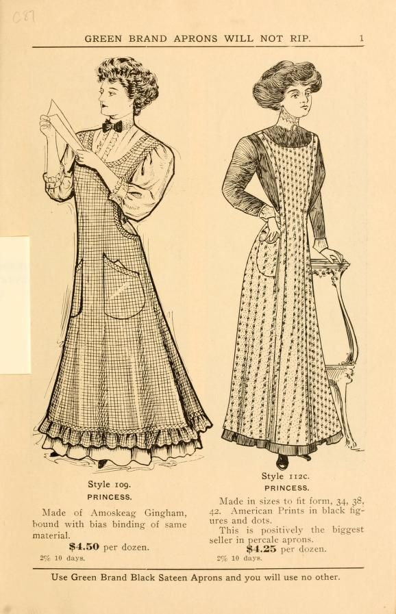 Vintage Green Brand aprons catalogue - would love to have one of ...