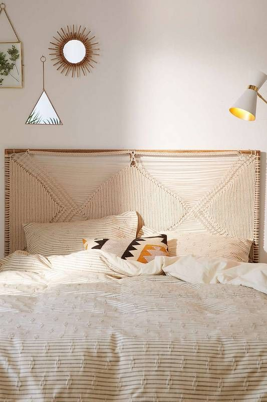Best Boho Decor To Buy At Urban Outfitters Home Right Now Headboards For Beds Bedroom Headboard Macrame Headboard