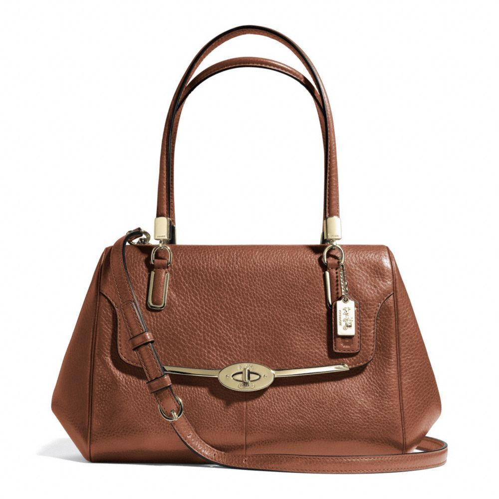 Coach madison small madeline east/west satchel in leather