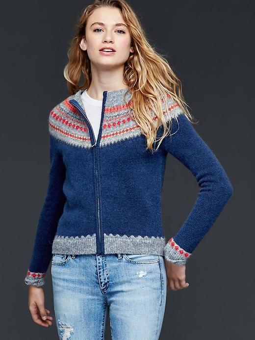 Fair isle zip jacket | Gap | Why I Wish I Was Rich | Pinterest ...