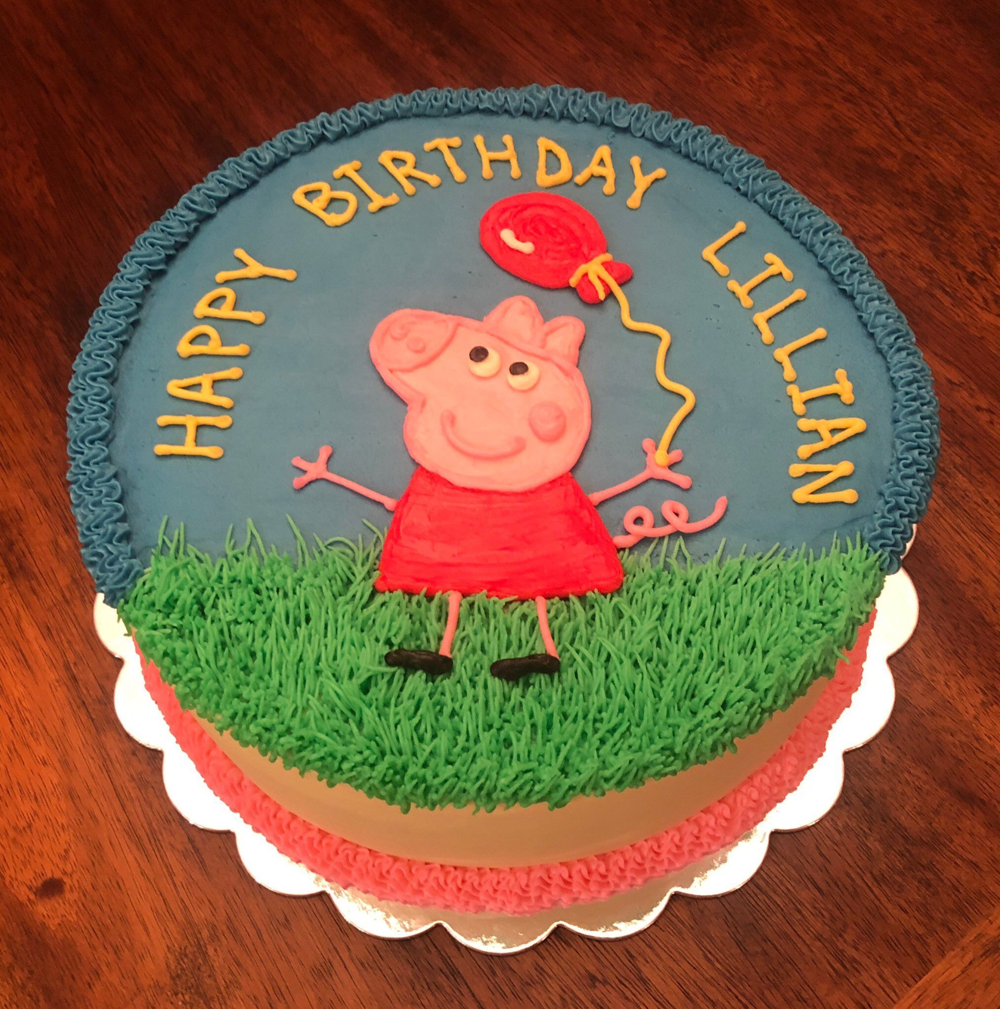 Peppa Pig Cake Easy Diy With Images Pig Birthday Cakes Peppa