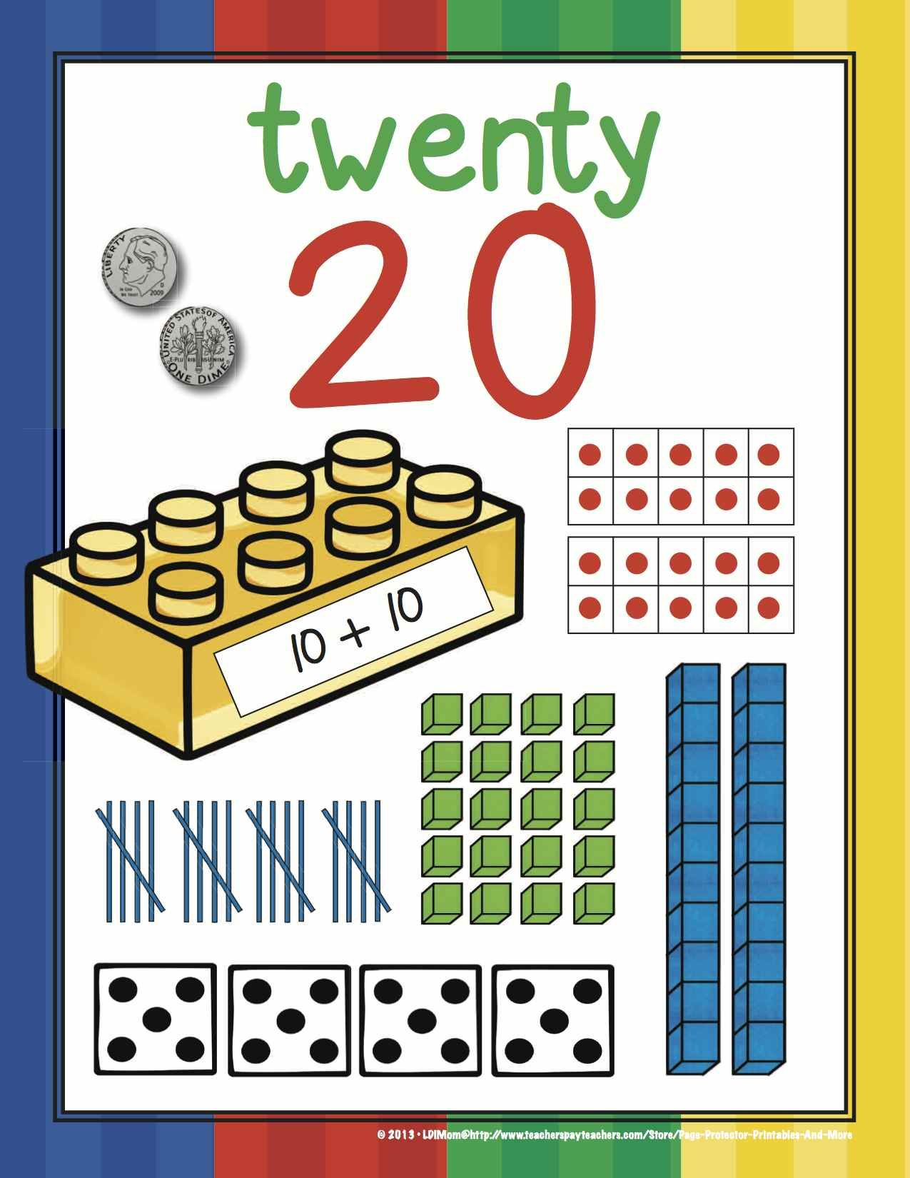 Number Posters 0 20 With 7 Numeracy Models