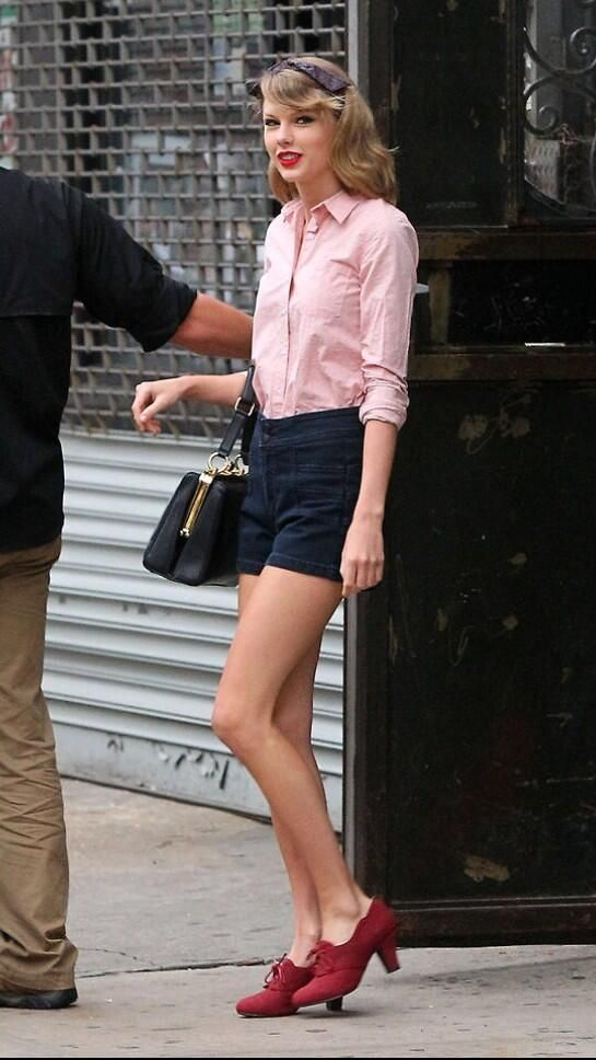 She actually looks really cute in pink. She should wear it more often.