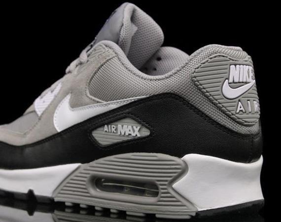 black white grey air max 90