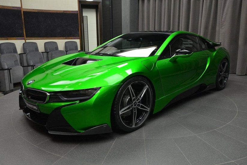 Lava Green Bmw I8 With Ac Schnitzer Carbon Aerodynamic Kit Mycarid