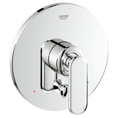 grohe 19 353 single handle pressure balanced shower valve trim with diverter fro starlight chrome faucet