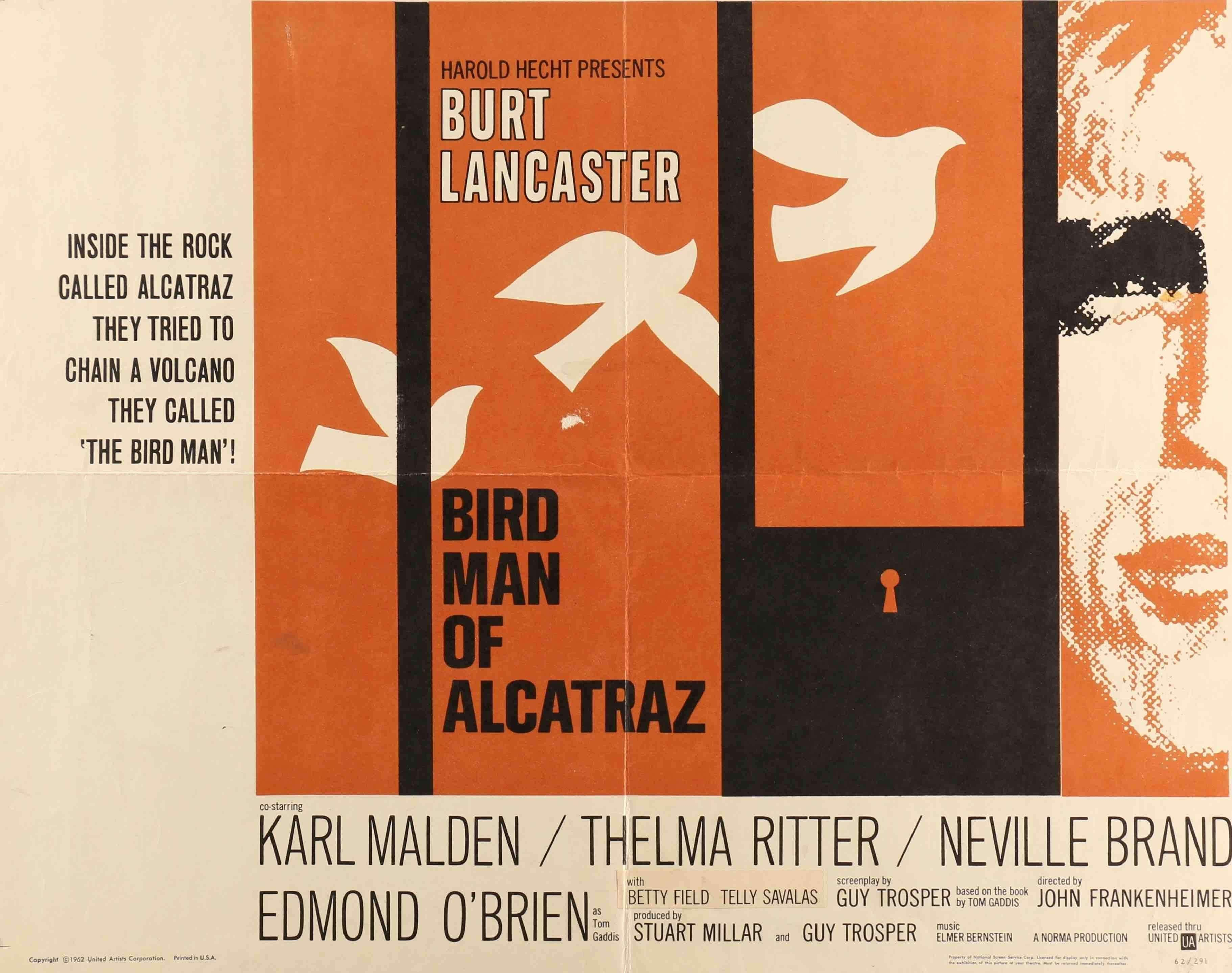 Birdman of Alcatraz (1962) | Birdman, Bob peak, Saul bass posters